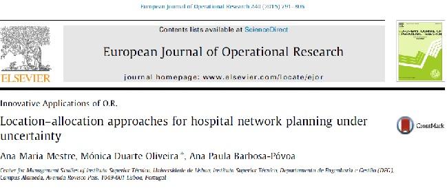 مقاله ترجمه شده مکانیابی و تخصیص برای شبکه بیمارستانی تحت شرایط عدم قطعیت (به همراه مقاله اصلی)